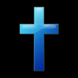 Blue Jelly Icon Culture Religion Cross Simple Emmaus Baptist Church